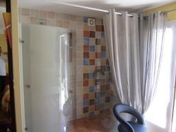 Image Vue sur la douche et la porte-fenêtre